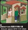 Kid's playhouse of playground equipment