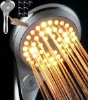switch control multipe colors changing led hand shower nozzle