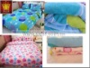 soft coral fleece printed bedding sheets