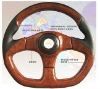 Racing Wooden Style Car Steering Wheel