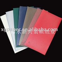 Square pattern PVC coated book binding paper