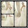 Graceful Trumpet Strapless Applique Lace Wedding Dresses