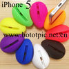Silicone mini portable amplifier speaker for mobile phones, for iphone 5