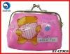 promotional smart pink pvc coin purse/coin bag