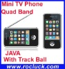Mini 3GS TV Mobile Phone X8 Quad Band with Track Ball
