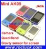 Mini AK09 Mini Dual SIM Cellphone Quad Band with Camera