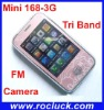 Cell Phone Mini 168-3G Mini Dual SIM Phone Quad Band