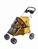yellow 4 wheels pet stroller/trolley