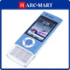 Dual sim card dual standby mobile phone W008 with Flashlight TV Function JAVA Blue #5074