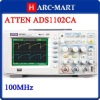 ATTEN ADS1102CA Digital Oscilloscope 100MHz 2 Channel Digital Storage Oscilloscope DSO #6126