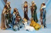 11pcs Nativity Set,Manger,Resin Religious statue