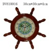 Wooden clock/wall clock/home decoration/Wooden ship wheel clock