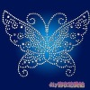 Blue Butterfly hot fix pictures