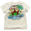 [LEAP] boy printing short sleeve green/white t-shirt(child garment,kid wear)