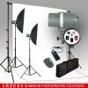 220W Photography Studio flash Kit Muslin Backdrop Support