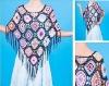 Hand made crochet shawl, Crochet amice,fashion shawl