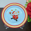 "7.5""PORCELAIN FLAT PLATE WITH NEW CHRISTMAS DESIGN"