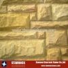 Yellow sandstone wall cladding