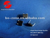 1.0 Amp Single-Phase Silicon Bridge Rectifier DB107 with good qulity and low price