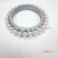 Unique Pearl Bangles With Ribbon