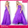 AZ0559 One Shoulder Rhinestones Floor length A-Line Organza plus size dresses