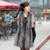 2012 Lady's Long Silver Fox fur vest
