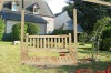 Deluxe Log Porch Swing / wooden swing set