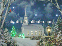 Christmas LED Fiber Light Canvas Frame