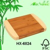 Eco-friendly Two-tone color Square Bamboo Chopping Board