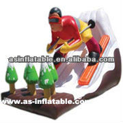 2013 new design best quality superman inflatable slide