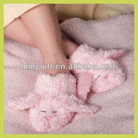 plush stuffed bunny slippers, winter animal slipper for wholesale