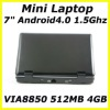 WM8850 Android 7 inch Mini Laptop Netbook