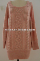 Woman' fashion long style cotton pullover
