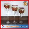 3pc set hand painted christmas candle holder