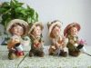 good painting resin doll as home decoration items
