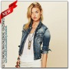 Diamond Embroidered Short Denim Jackets for Ladies(WJ0239)
