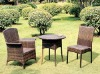 Garden Furniture - Aluminium Wicker Chair & Table set