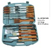 (BBT-0616W) 16 Pcs BBQ Tool Set with Paka Wood Handle in Plastic Case