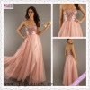 2128-1hs 2012 Bewitching Looking Sequin Floor Length Sash Tulle Made Pink A-Line Strapless Gown Free Shipping Prom Dress