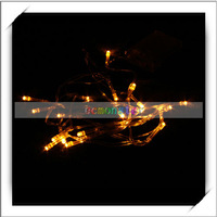 2.1m Yellow Christmas Party Battery Operated LED String Lights