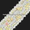 White sequin lace trims