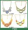2013 newest design most popular colorful necklace with milk acrylic