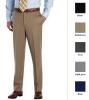 Men's Madison Fit Plain-Front Classic Gabardine Trousers
