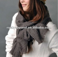 Hot sales fashional long warn acylic scarf