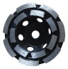 Grinding and buffering diamond cup grinding wheels