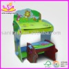 kids wooden learning desk and chair