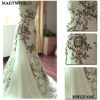 2012 embroidery designer brand wedding dresses(MWHS-005)