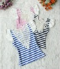 2012 100% cotton newest fashion stripe children t-shirt for girl's