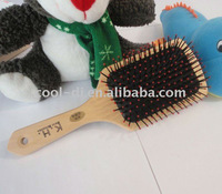 fashionable wood dog pin brush for groomer KD0102302