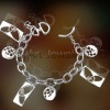 2012 NEW brand brass or sterling silver bracelet paypal on line